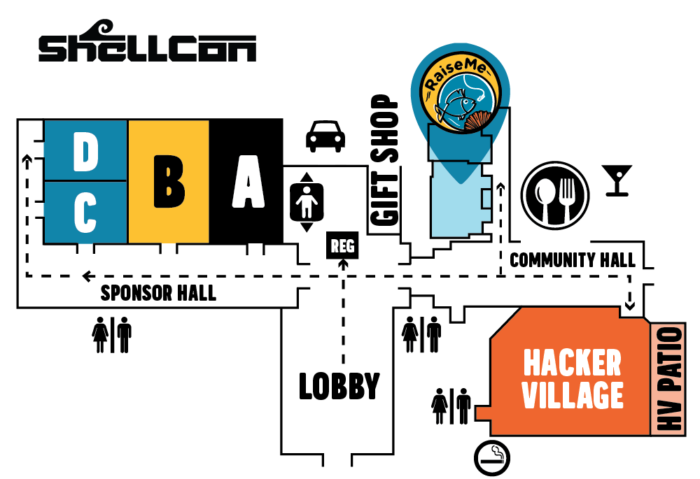 Map of ShellCon at the Crowne Plaza Hotel